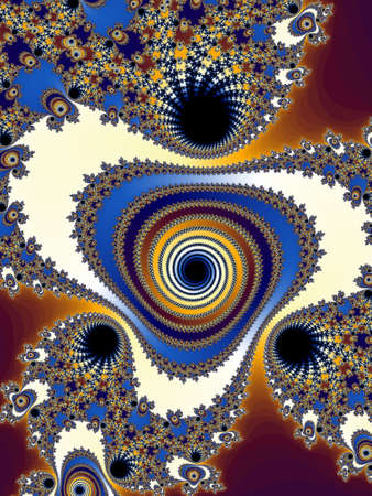 tempting: Decorative fractal spiral Stock Photo