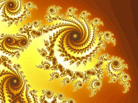 Decoratieve fractal spiraal Stockfoto