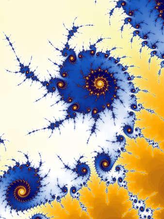 dynamically: Decorative frctal spiral Stock Photo