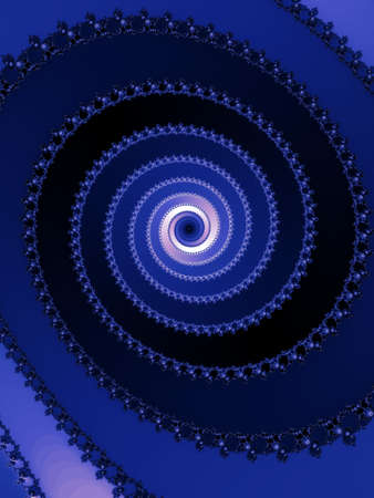 dynamically: Blue fractal spiral Stock Photo