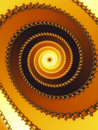 dynamically: Decorative fractal spiral in a brown colors