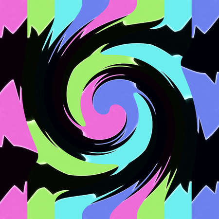 dynamically: Abstraction decorative spiral