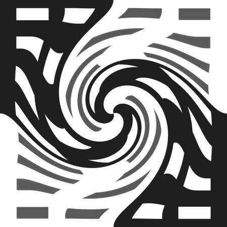 dynamically: Black - white abstraction spiral