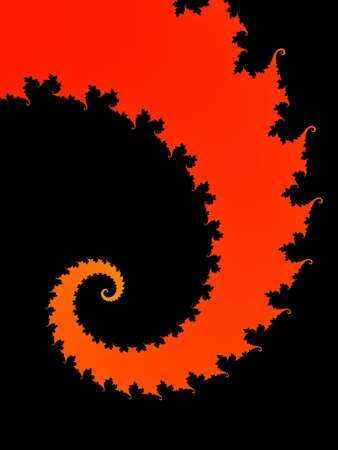 Red fractal spiral Stock Photo
