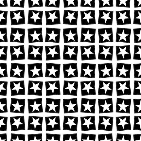 Seamless pattern with a five-pointed stars Stock Photo