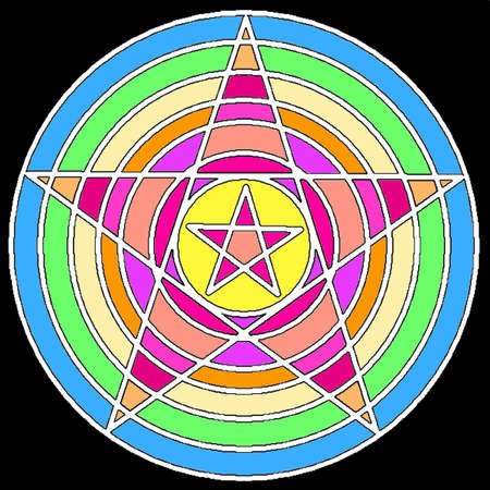 Mystical decorative pentagram