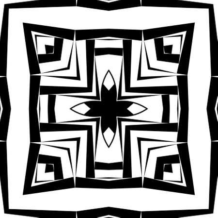Geometric decorative pattern in a black - white colors Stock Photo