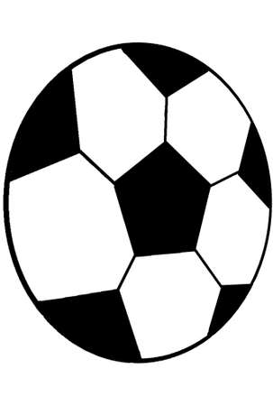 Pattern with a soccer. Stock Photo