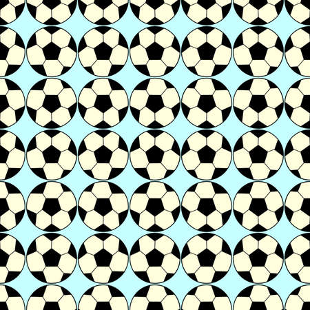 Seamless pattern with a soccer ball in a delicate colors. Stock Photo