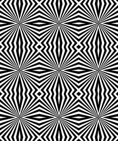 Seamless geometric pattern in a black-and-white color Stock Photo