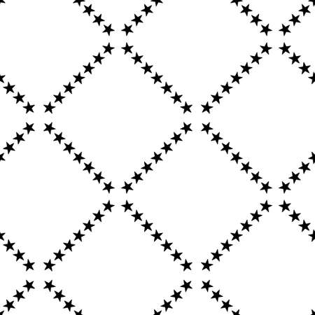 Seamless geometric pattern with a stars