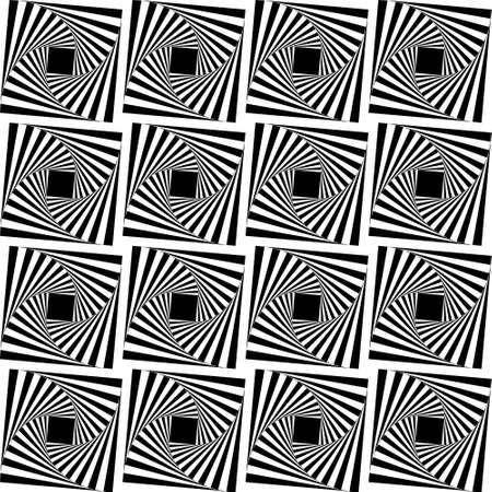 Seamless geometric pattern with black holes Stock Photo