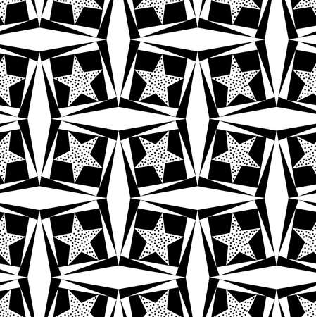 Seamless geometric pattern with a star