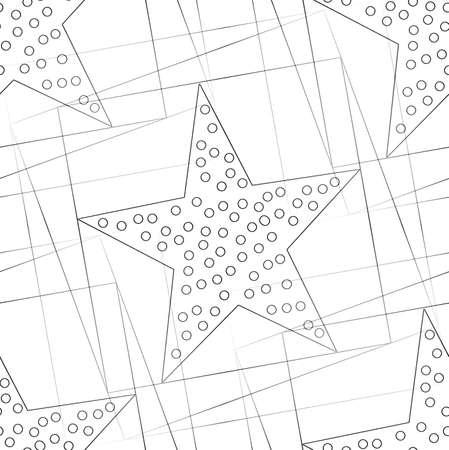Seamless geometric pattern with a stars Stock Photo - 104193990