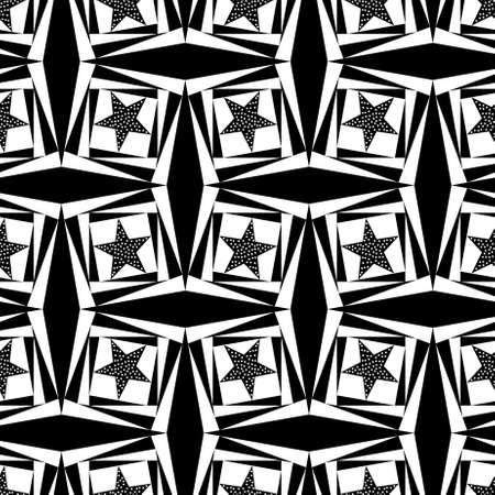 Seamless geometric pattern with a star Stock Photo - 104221061