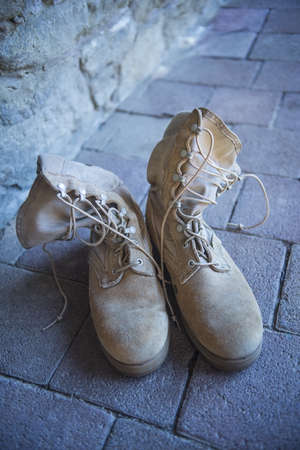 army boots: U.S. Army Boots Stock Photo