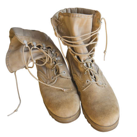 army boots: U.S. Army boots isolated on white background Stock Photo