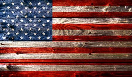 Grunge met houten textuur Amerikaanse vlag