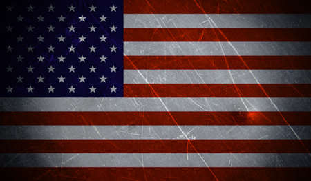 Grunge american flag with scratched  stone texture Imagens - 20386334