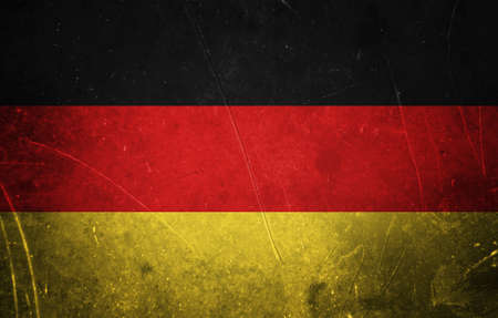 Grunge german flag with scratched stone texture Stock Photo