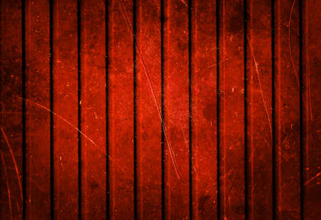 Grunge dirty red metal fence background photo