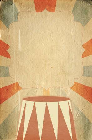 fondo de circo: Retro circo plantilla del cartel del estilo en el fondo rayo de sol, con un espacio para el texto Foto de archivo