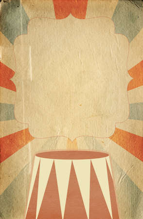 circus background: Retro circus style poster template on  sunbeam background with a space for your text Stock Photo