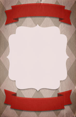Retro circus style poster template on rhombus background with a space for your text photo