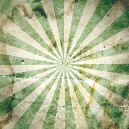 Retro revival sunbeam poster background in green photo