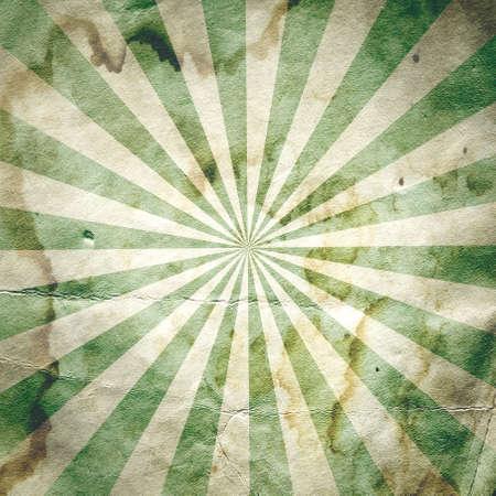 radial: Retro revival sunbeam poster background in green Stock Photo