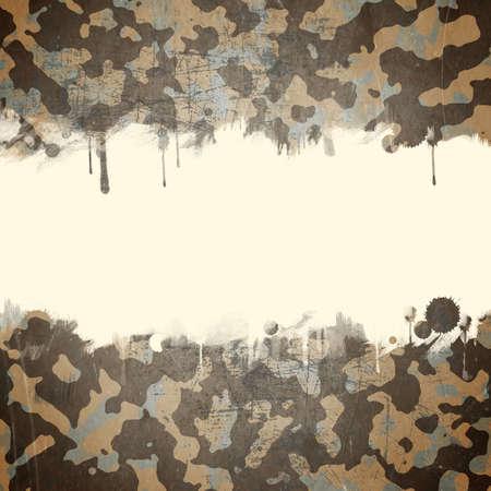 Desert camouflage achtergrond met een ruimte voor tekst Stockfoto