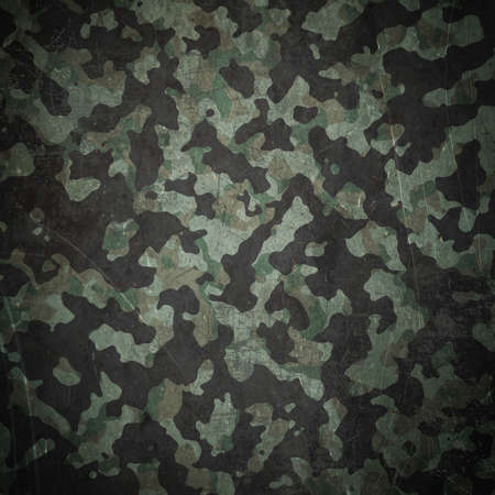 Grunge military camouflage woodland background photo