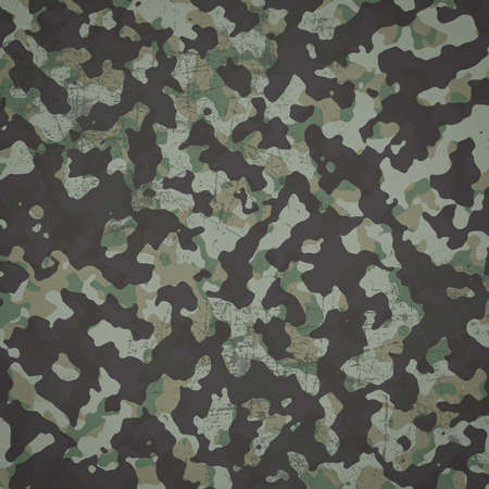 Grunge military camouflage  woodland  background in square