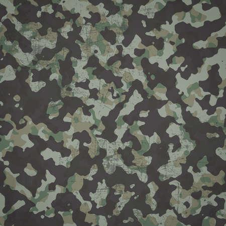 Grunge militaire camouflage woodland achtergrond in vierkante Stockfoto