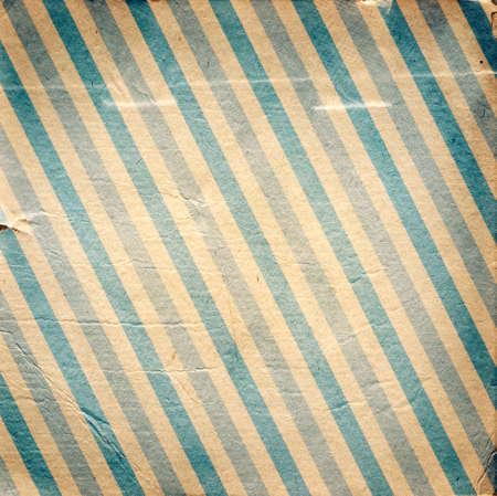 diagonal stripes: Vintage blue diagonal striped paper background