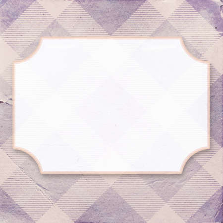 place for text: Vintage purple diagonal striped paper background with a place for your text Stock Photo