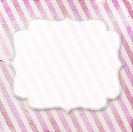 diagonal stripes: Vintage pinkdiagonal striped paper background with a place for your text Stock Photo
