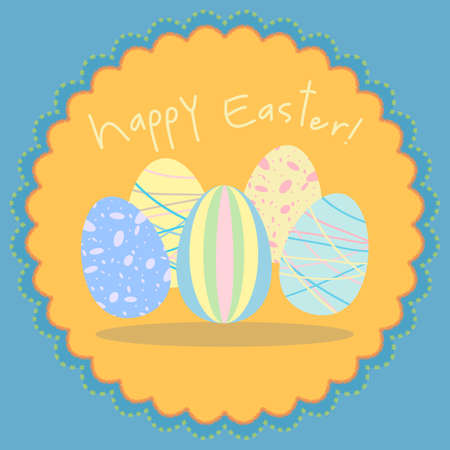 Easter egg card in pastel colors Vector