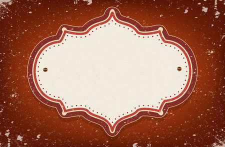 Vintage vector circus inspired frame on red background with a space for your text Vector