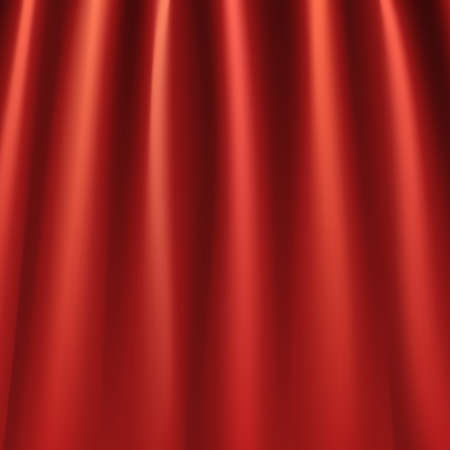 interior decoration: Red curtains background Illustration