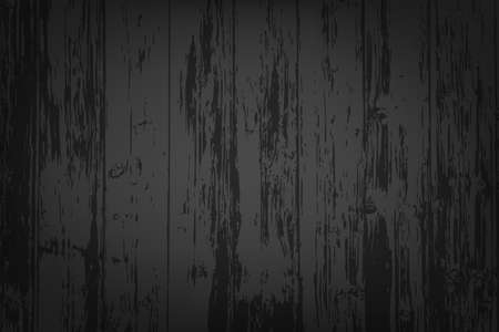 Black wooden textured background for your designs Vector