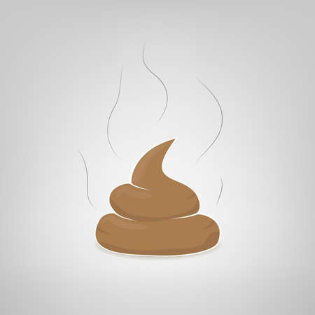 feces: Vector poop illustration Illustration