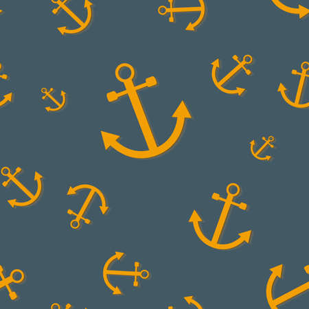 Seamless pattern with anchors (nautical theme) Vector