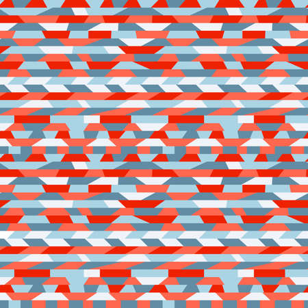 red indian: Seamless abstract ethnic pattern