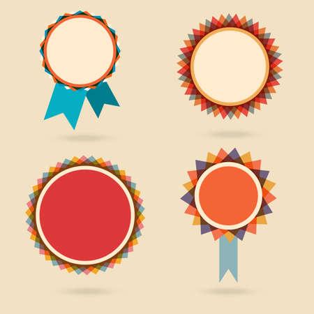 star award: Set of four vintage award badges