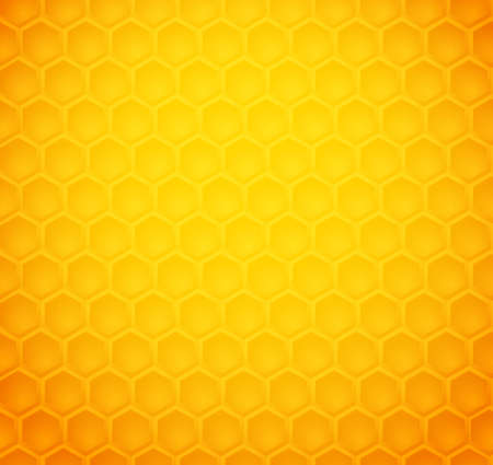 honey comb: Seamless abstract honeycomb pattern (vector)