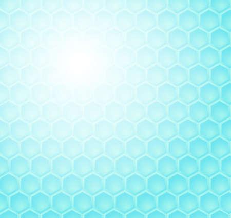 Seamless abstract blue hexagon pattern (vector) Vector