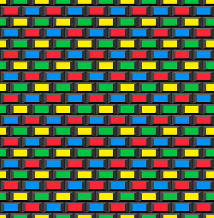 8 bit: La vieja escuela 8 bits de ladrillo del fondo del estilo del juego de arcada