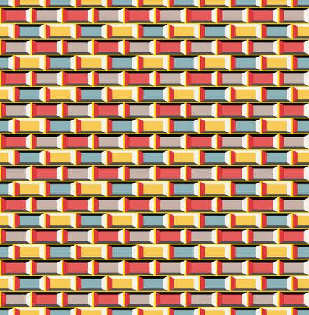 8 bit: La vieja escuela 8 bits de ladrillo de fondo estilo arcade (vector incons�til)