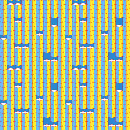 bit background: Pixel cube shapes seamless vector pattern